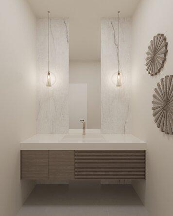 Online design Modern Bathroom by Laura A. thumbnail