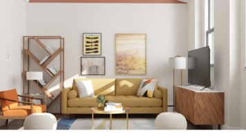 Online design Contemporary Living Room by Ebere O. thumbnail