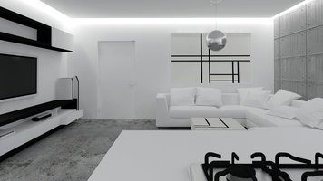 Online design Contemporary Combined Living/Dining by Selma A. thumbnail
