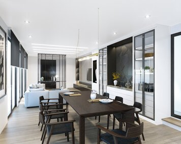 Online design Modern Combined Living/Dining by Edelyn P. thumbnail