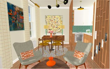Online design Contemporary Combined Living/Dining by lila n. thumbnail
