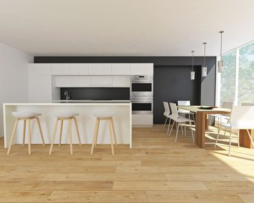 Online design Contemporary Combined Living/Dining by Soha K. thumbnail