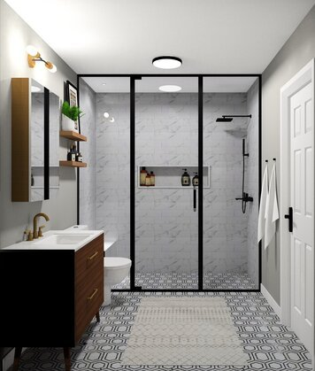 Online design Modern Bathroom by Noraina Aina M. thumbnail