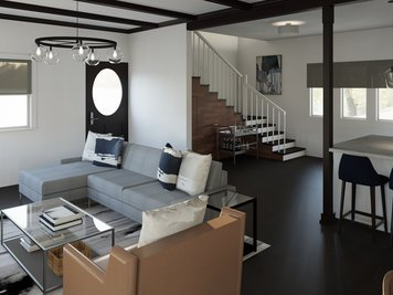 Online design Contemporary Combined Living/Dining by Lynda N thumbnail