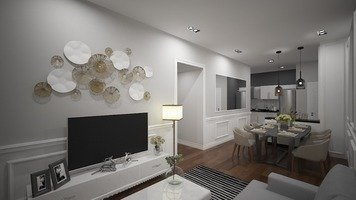 Online design Country/Cottage Combined Living/Dining by FatehahCheMat thumbnail