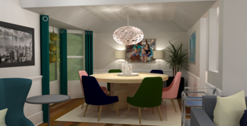 Online design Transitional Dining Room by Amber K. thumbnail
