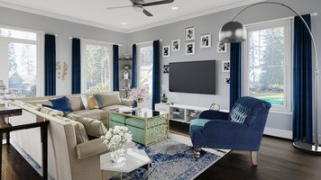 Online design Glamorous Living Room by Farzaneh K. thumbnail