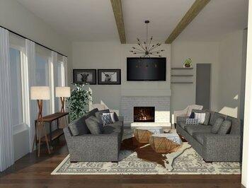 Online design Transitional Living Room by Vera B. thumbnail