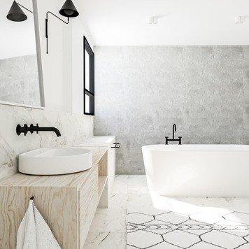 Online design Contemporary Bathroom by Katarina K. thumbnail