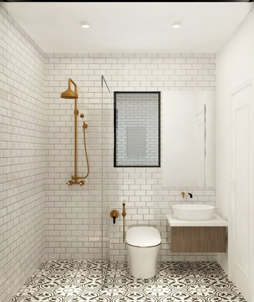 Online design Country/Cottage Bathroom by Mahirah H. thumbnail