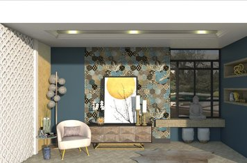Online design Contemporary Living Room by Aamirah P. thumbnail