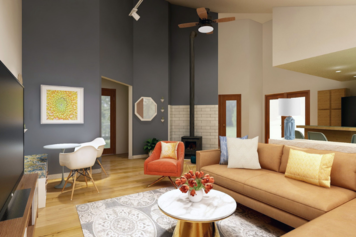 Online design Modern Living Room by Jennifer A.  thumbnail
