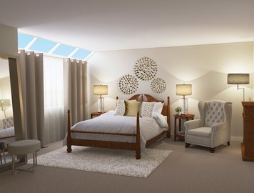 Online design Traditional Bedroom by Vale G. thumbnail