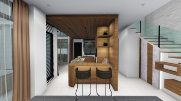 Online design Transitional Kitchen by FatehahCheMat thumbnail