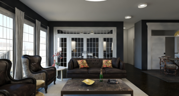 Online design Glamorous Combined Living/Dining by Mary B.  thumbnail