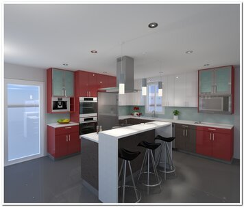 Online design Contemporary Kitchen by Krystyna A. thumbnail