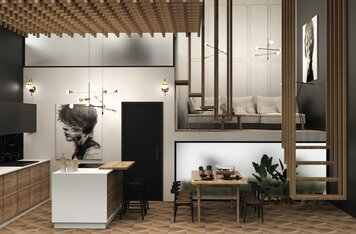 Online design Contemporary Combined Living/Dining by Marija S. thumbnail