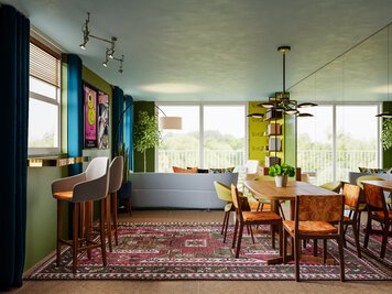 Online design Eclectic Combined Living/Dining by Casey H. thumbnail
