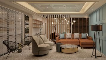Online design Transitional Living Room by Anup T. thumbnail
