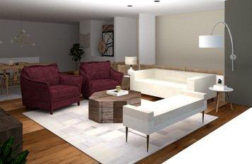 Online design Modern Living Room by Ornela N. thumbnail