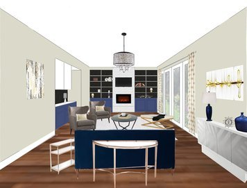 Online design Contemporary Living Room by Shelley C. thumbnail
