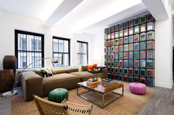 Online design Eclectic Living Room by Sara M. thumbnail