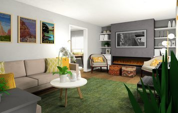 Online design Eclectic Living Room by Noraina Aina M. thumbnail