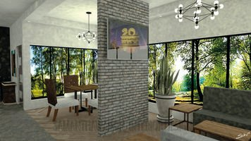 Online design Contemporary Combined Living/Dining by Samantha W. thumbnail
