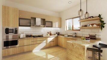 Online design Contemporary Kitchen by Pratiksha K. thumbnail