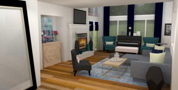 Online design Transitional Living Room by Amber K. thumbnail
