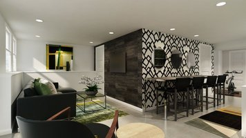 Online design Modern Combined Living/Dining by Ibrahim H. thumbnail