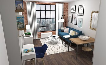 Online design Eclectic Combined Living/Dining by Laura A. thumbnail