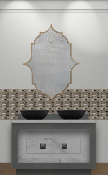 Online design Contemporary Bathroom by Amber R. thumbnail