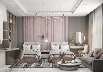 Online design Modern Bedroom by Zahra M. thumbnail