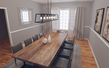 Online design Transitional Combined Living/Dining by Jodi W. thumbnail