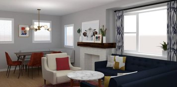 Online design Eclectic Combined Living/Dining by Jessica S. thumbnail