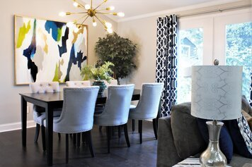 Online design Contemporary Combined Living/Dining by Deidre B. thumbnail