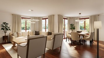 Online design Transitional Combined Living/Dining by Tamna E. thumbnail