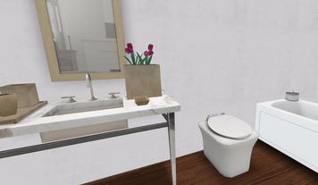 Online design Modern Bathroom by Lindsey M. thumbnail