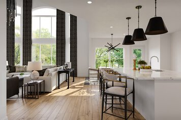 Online design Transitional Combined Living/Dining by Berkeley H. thumbnail