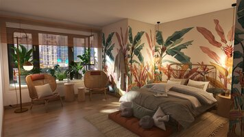 Online design Transitional Bedroom by Lizzy M. thumbnail