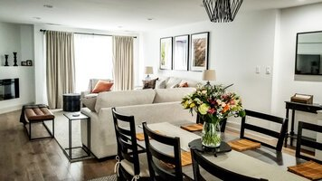 Online design Transitional Combined Living/Dining by Johanna A. thumbnail