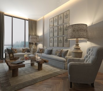 Online design Country/Cottage Living Room by Nathalie I. thumbnail
