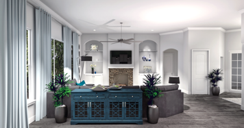 Online design Contemporary Living Room by Camila C. thumbnail