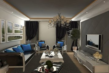 Online design Traditional Living Room by Farzaneh K. thumbnail