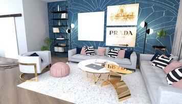 Online design Glamorous Living Room by Janja R. thumbnail