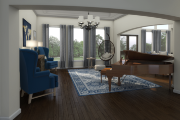 Online design Transitional Living Room by Picharat A.  thumbnail