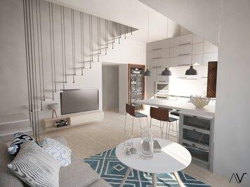 Online design Beach Living Room by Dominika Z. thumbnail
