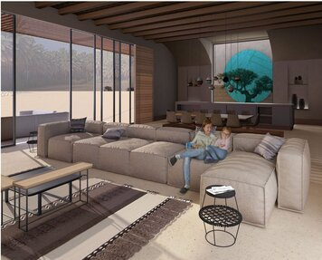 Online design Transitional Living Room by Rawan A. thumbnail