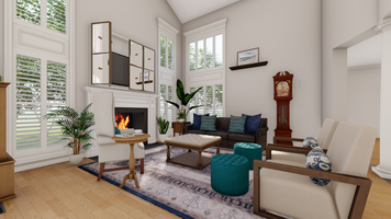Online design Traditional Living Room by Picharat A.  thumbnail